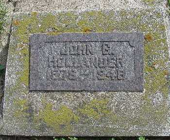 HOLLANDER, JOHN G. - Sioux County, Iowa   JOHN G. HOLLANDER