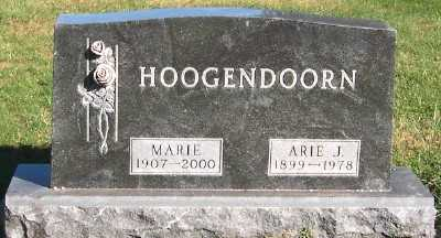 HOOGENDOORN, ARIE J. - Sioux County, Iowa | ARIE J. HOOGENDOORN