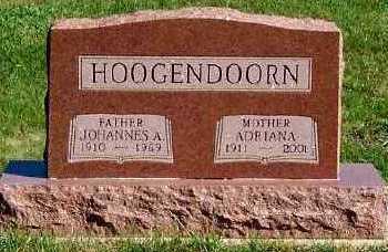 HOOGENDOORN, JOHANNES A. - Sioux County, Iowa | JOHANNES A. HOOGENDOORN