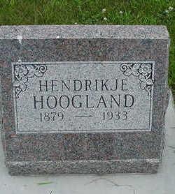 HOOGLAND, HENDRIKJE - Sioux County, Iowa   HENDRIKJE HOOGLAND