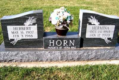 HORN, HERMINA - Sioux County, Iowa | HERMINA HORN