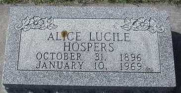 HOSPERS, ALICE LUCILE - Sioux County, Iowa | ALICE LUCILE HOSPERS