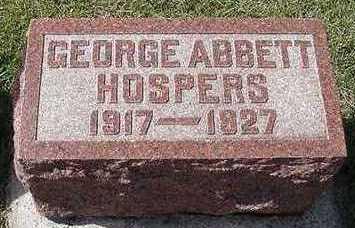 HOSPERS, GEORGE ABBOTT - Sioux County, Iowa | GEORGE ABBOTT HOSPERS