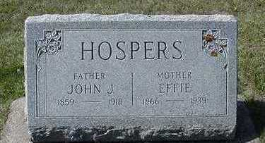 HOSPERS, EFFIE (MRS. JOHN J.) - Sioux County, Iowa | EFFIE (MRS. JOHN J.) HOSPERS