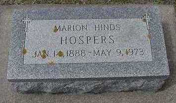 HINDS HOSPERS, MARION - Sioux County, Iowa | MARION HINDS HOSPERS