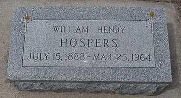 HOSPERS, WILLIAM HENRY - Sioux County, Iowa | WILLIAM HENRY HOSPERS
