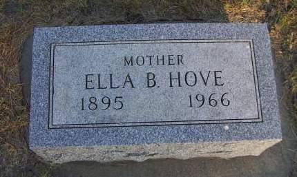 HOVE, ELLA B. - Sioux County, Iowa   ELLA B. HOVE