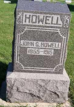 HOWELL, JOHN G. - Sioux County, Iowa   JOHN G. HOWELL