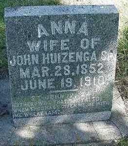 HUIZENGA, ANNA (MRS. JOHN SR.) - Sioux County, Iowa   ANNA (MRS. JOHN SR.) HUIZENGA