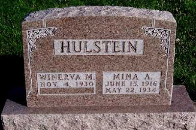 HULSTEIN, MINA - Sioux County, Iowa | MINA HULSTEIN