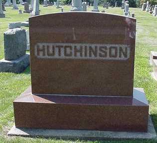 HUTCHINSON, HEADSTONE - Sioux County, Iowa | HEADSTONE HUTCHINSON