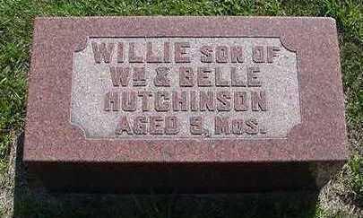 HUTCHINSON, WILLIE - Sioux County, Iowa | WILLIE HUTCHINSON