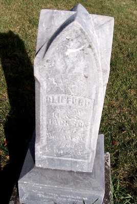 JACKSON, CLIFFORD (SON OF H.& S.) - Sioux County, Iowa   CLIFFORD (SON OF H.& S.) JACKSON