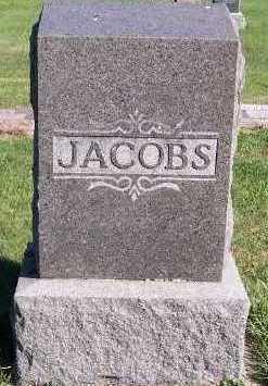 JACOBS, HEADSTONE - Sioux County, Iowa   HEADSTONE JACOBS