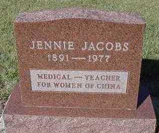 JACOBS, JENNIE - Sioux County, Iowa | JENNIE JACOBS