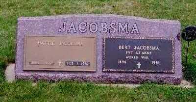 JACOBSMA, BERT - Sioux County, Iowa   BERT JACOBSMA