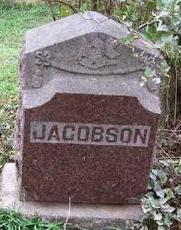 JACOBSON, HEADSTONE - Sioux County, Iowa | HEADSTONE JACOBSON
