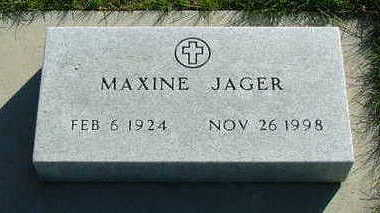 JAGER, MAXINE - Sioux County, Iowa | MAXINE JAGER