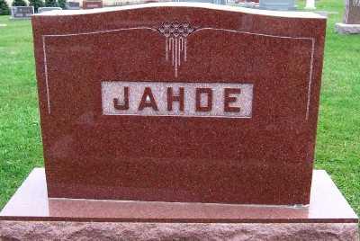 JAHDE, HEADSTONE - Sioux County, Iowa | HEADSTONE JAHDE