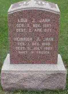 JAHN, HEINRICH F. - Sioux County, Iowa | HEINRICH F. JAHN