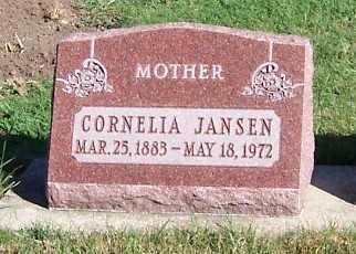 JANSEN, CORNELIA - Sioux County, Iowa   CORNELIA JANSEN