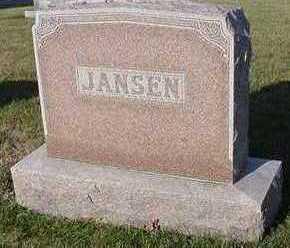 JANSEN, HEADSTONE - Sioux County, Iowa | HEADSTONE JANSEN