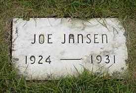 JANSEN, JOE - Sioux County, Iowa   JOE JANSEN