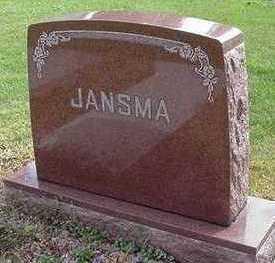 JANSMA, HEADSTONE - Sioux County, Iowa | HEADSTONE JANSMA