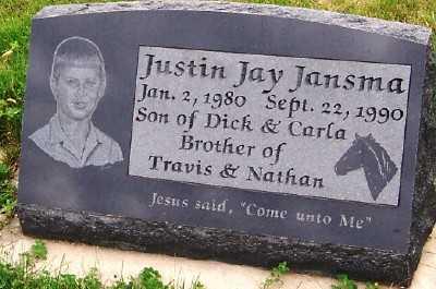 JANSMA, JUSTIN JAY - Sioux County, Iowa | JUSTIN JAY JANSMA