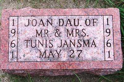 JANSMA, JOAN (DAU OF M/M TUNIS) - Sioux County, Iowa | JOAN (DAU OF M/M TUNIS) JANSMA