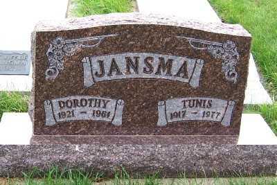 JANSMA, TUNIS - Sioux County, Iowa | TUNIS JANSMA