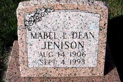 DEAN JENISON, MABEL L. - Sioux County, Iowa | MABEL L. DEAN JENISON