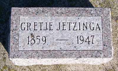 JETZINGA, GRETJE - Sioux County, Iowa   GRETJE JETZINGA