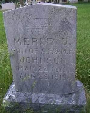 JOHNSON, MERLE O. - Sioux County, Iowa | MERLE O. JOHNSON