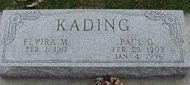 KADING, ELVIRA M. (MRS. PAUL) - Sioux County, Iowa | ELVIRA M. (MRS. PAUL) KADING