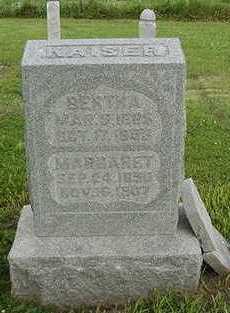 KAISER, MARGARET - Sioux County, Iowa | MARGARET KAISER