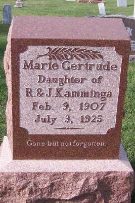 KAMMINGA, MARIE GERTRUDE - Sioux County, Iowa   MARIE GERTRUDE KAMMINGA