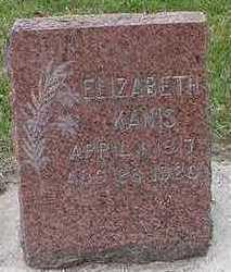 KANIS, ELIZABETH - Sioux County, Iowa   ELIZABETH KANIS