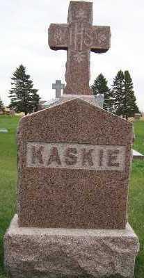 KASKIE, HEADSTONE - Sioux County, Iowa | HEADSTONE KASKIE