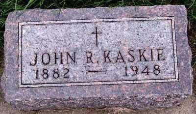 KASKIE, JOHN R. - Sioux County, Iowa   JOHN R. KASKIE