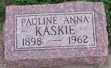 KASKIE, PAULINE ANNA - Sioux County, Iowa | PAULINE ANNA KASKIE