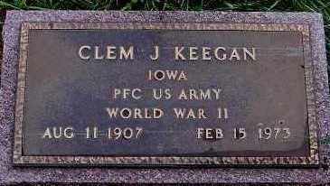KEEGAN, CLEM J. - Sioux County, Iowa | CLEM J. KEEGAN