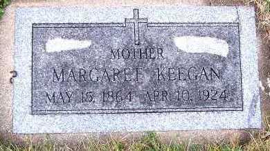 KEEGAN, MARGARET - Sioux County, Iowa   MARGARET KEEGAN
