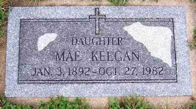KEEGAN, MAE - Sioux County, Iowa   MAE KEEGAN