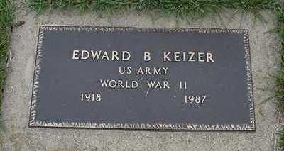 KEIZER, EDWARD B.  (WAR) - Sioux County, Iowa | EDWARD B.  (WAR) KEIZER