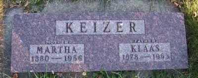 KEIZER, MARTHA - Sioux County, Iowa | MARTHA KEIZER