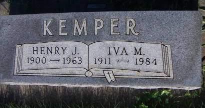 KEMPER, IVA M. - Sioux County, Iowa | IVA M. KEMPER