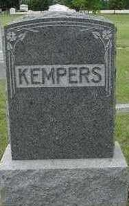 KEMPERS, HEADSTONE - Sioux County, Iowa | HEADSTONE KEMPERS