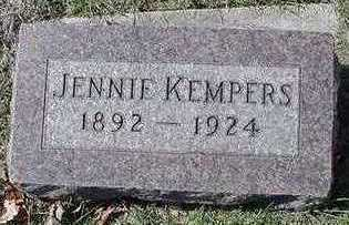 KEMPERS, JENNIE - Sioux County, Iowa   JENNIE KEMPERS