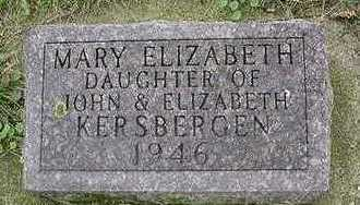 KERSBERGEN, MARY ELIZABETH - Sioux County, Iowa   MARY ELIZABETH KERSBERGEN